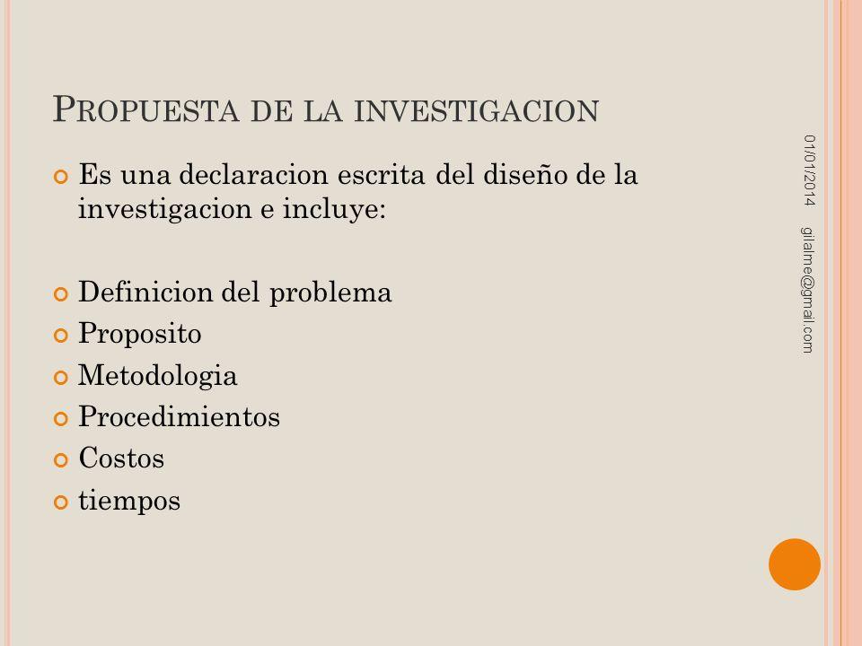 Propuesta de la investigacion