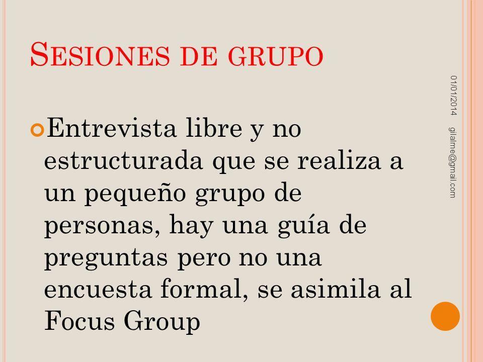 Sesiones de grupo 23/03/2017.