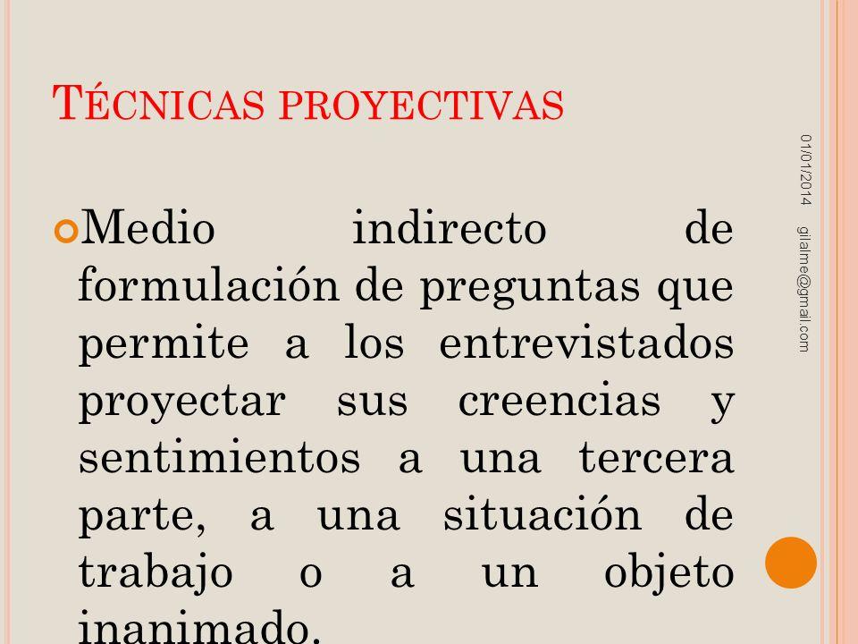 Técnicas proyectivas 23/03/2017.