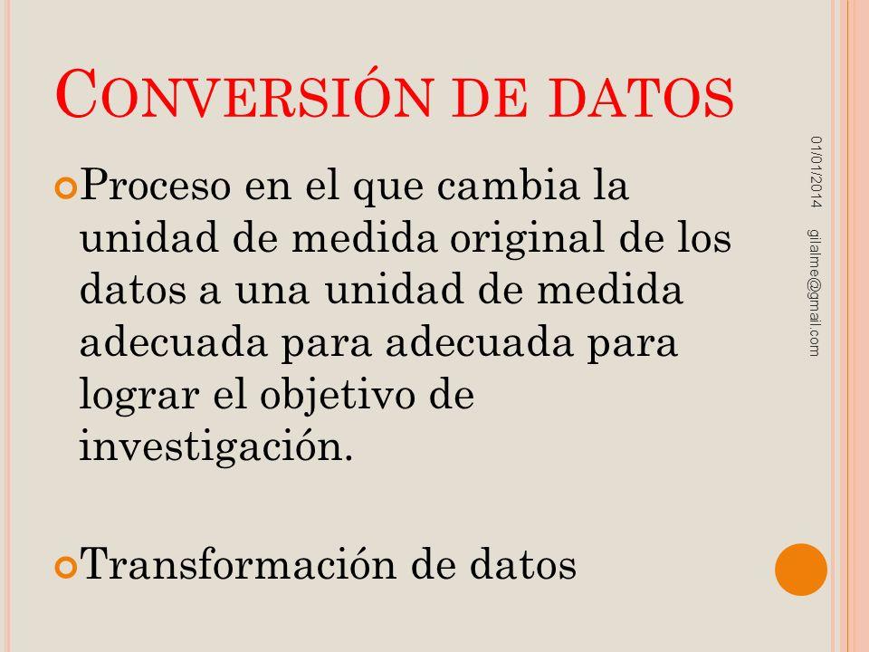 Conversión de datos 23/03/2017.