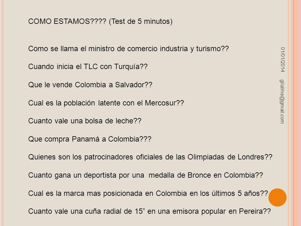 COMO ESTAMOS (Test de 5 minutos)