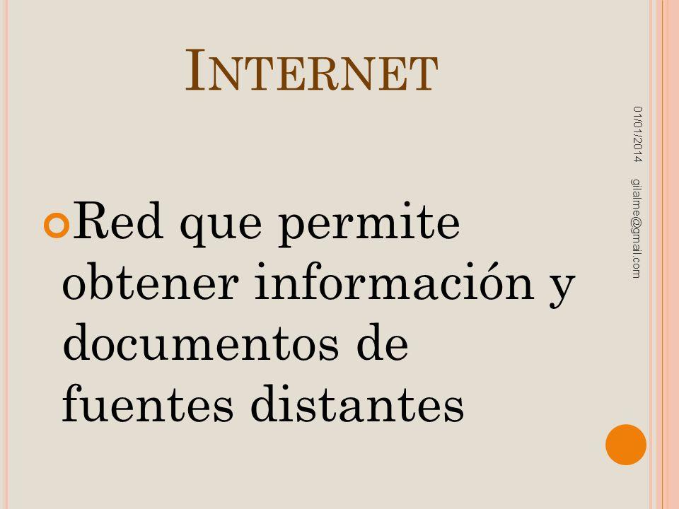 Internet 23/03/2017. Red que permite obtener información y documentos de fuentes distantes.