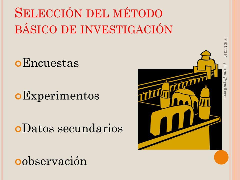 Selección del método básico de investigación