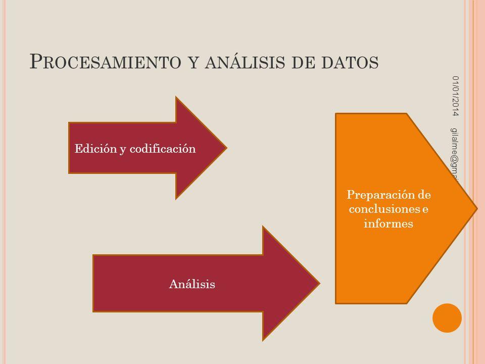 Procesamiento y análisis de datos