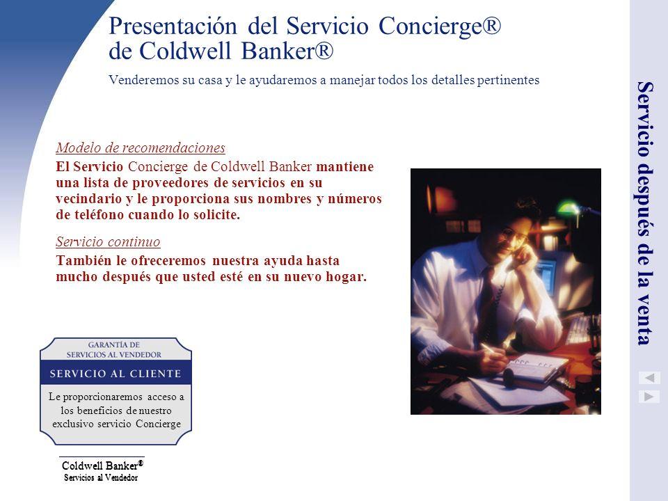 Coldwell Banker® Servicios al Vendedor