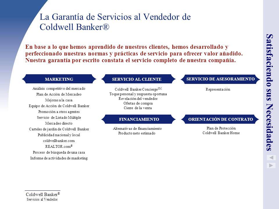La Garantía de Servicios al Vendedor de Coldwell Banker®