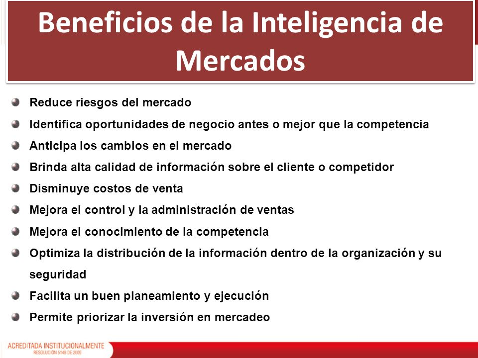 Beneficios de la Inteligencia de Mercados