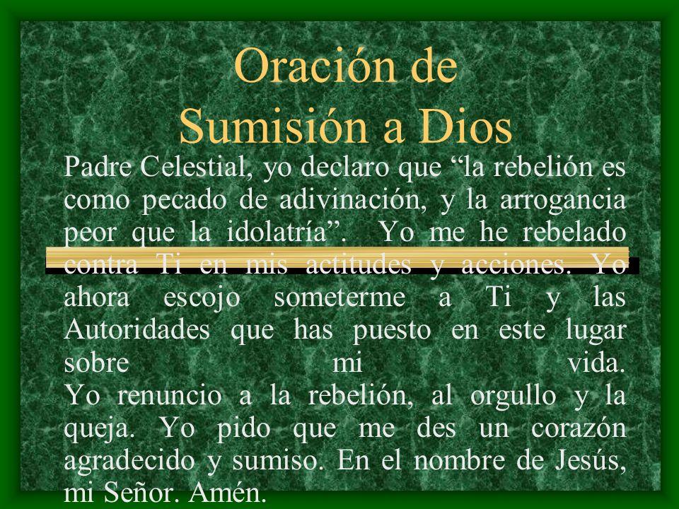 Oración de Sumisión a Dios