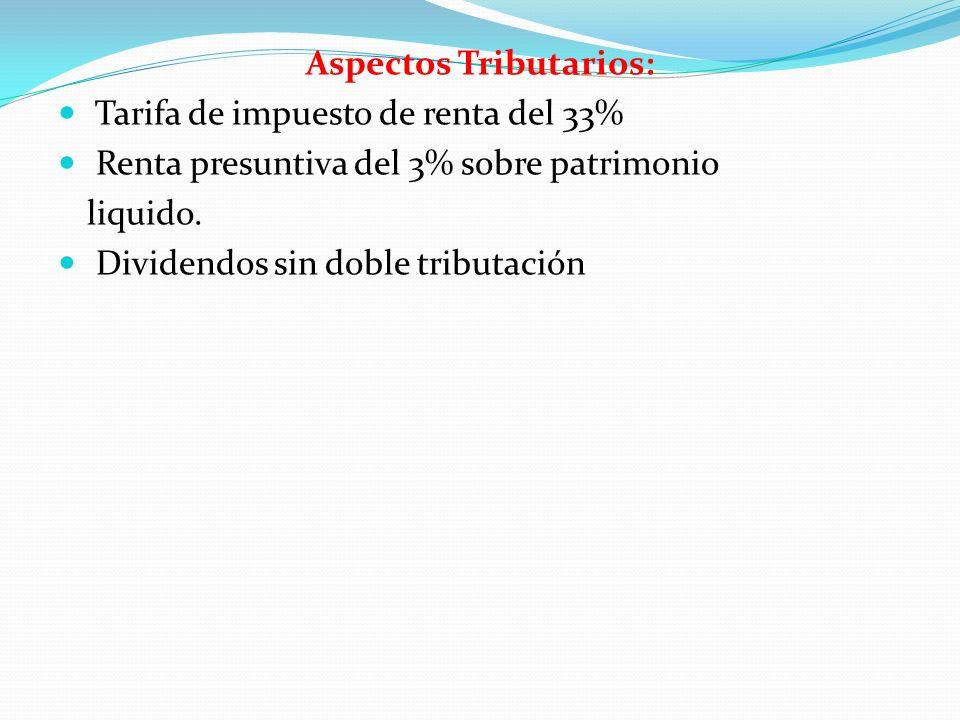 Aspectos Tributarios:
