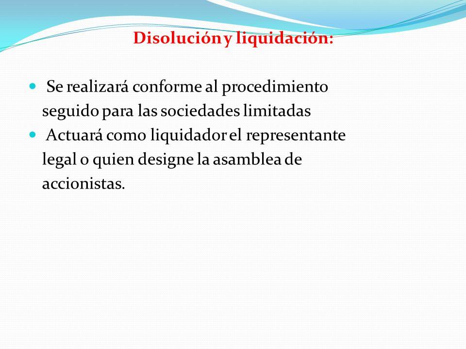 Disolución y liquidación: