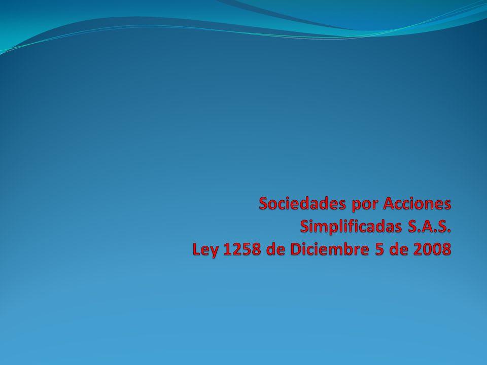 Sociedades por Acciones Simplificadas S. A. S