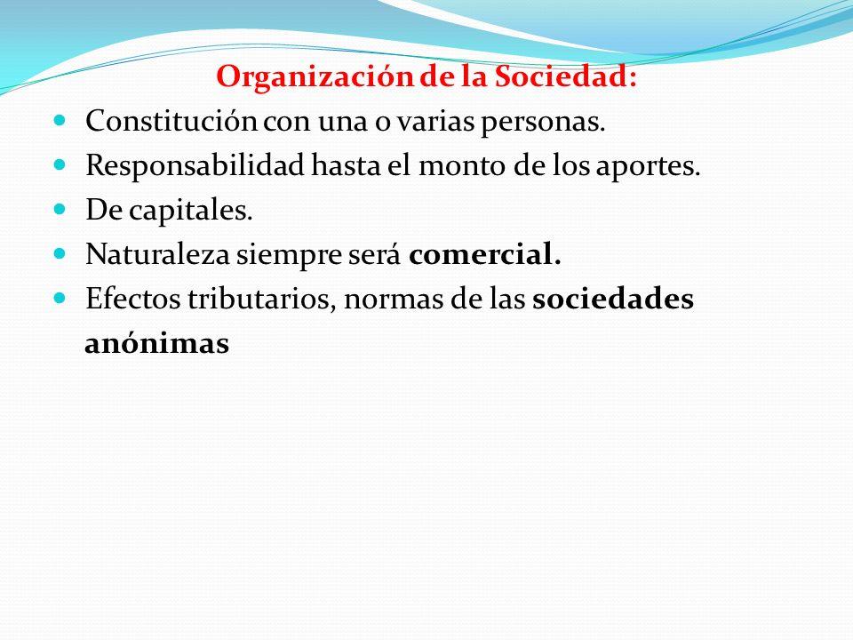 Organización de la Sociedad: