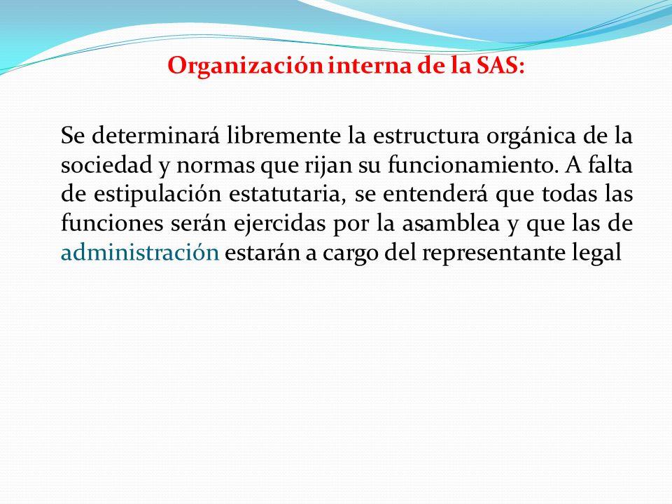 Organización interna de la SAS: