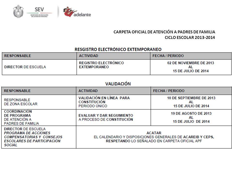 CARPETA OFICIAL DE ATENCIÓN A PADRES DE FAMILIA