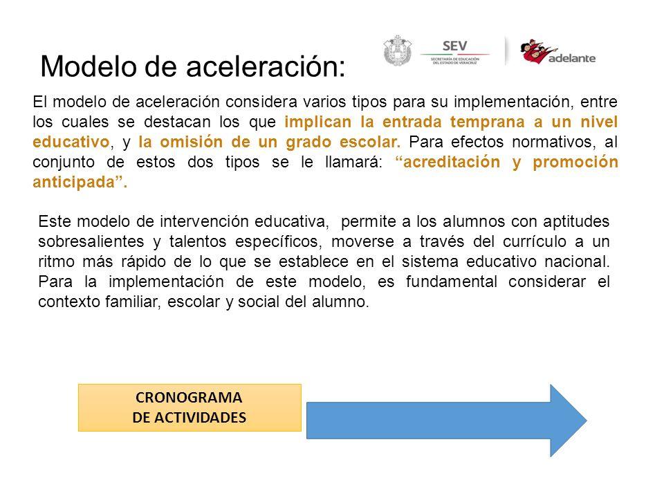 Modelo de aceleración: