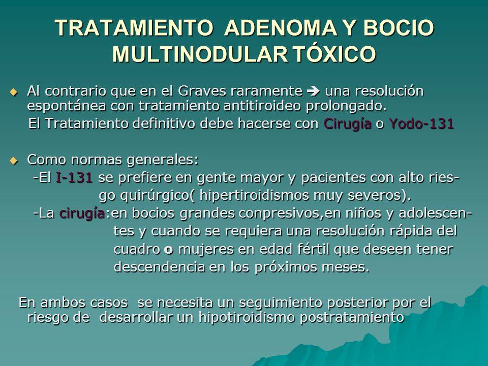 TRATAMIENTO ADENOMA Y BOCIO MULTINODULAR TÓXICO