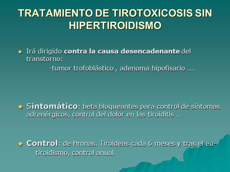 TRATAMIENTO DE TIROTOXICOSIS SIN HIPERTIROIDISMO
