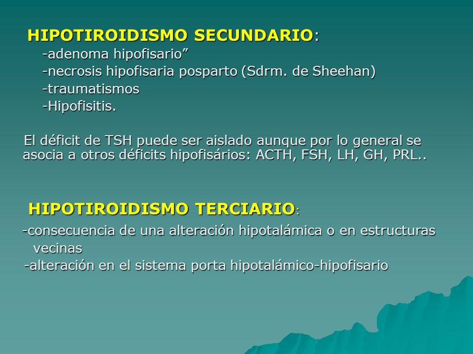 HIPOTIROIDISMO SECUNDARIO: