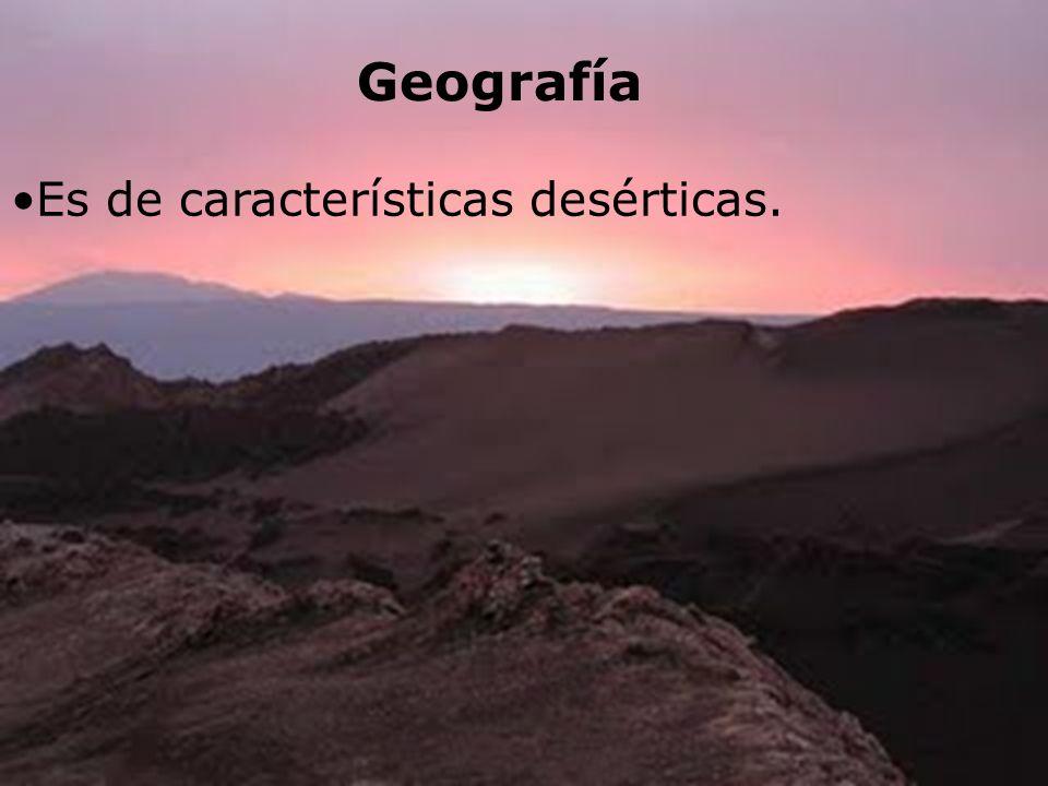 Geografía Es de características desérticas.