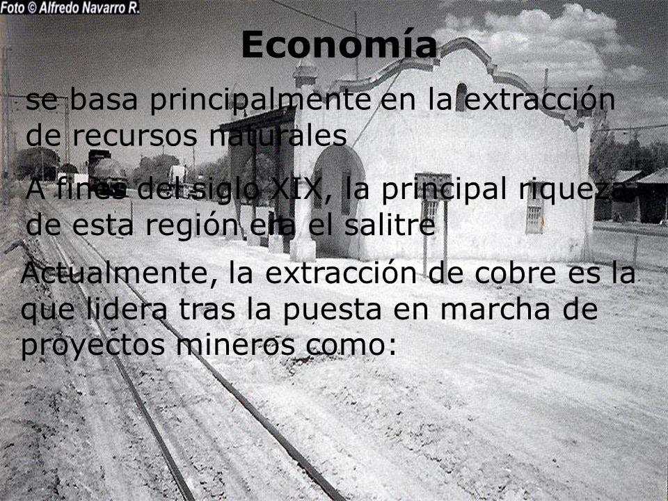 Economía se basa principalmente en la extracción de recursos naturales
