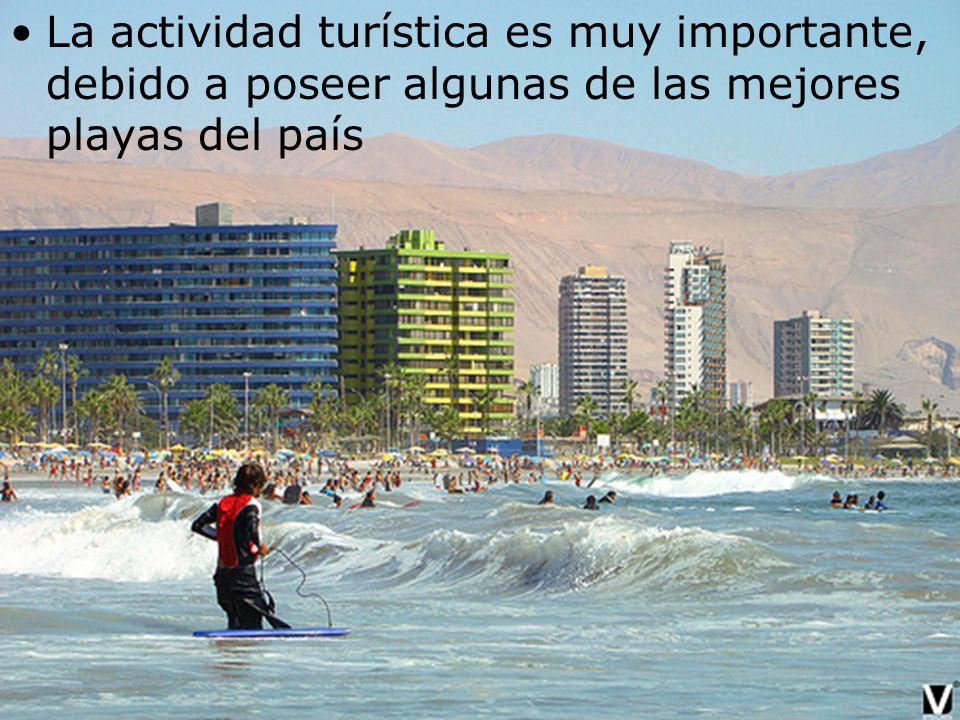 La actividad turística es muy importante, debido a poseer algunas de las mejores playas del país