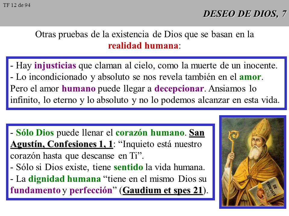 Otras pruebas de la existencia de Dios que se basan en la