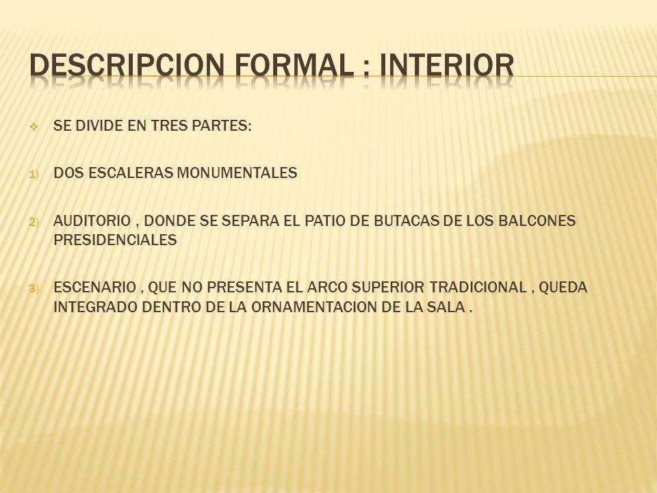DESCRIPCION FORMAL : INTERIOR