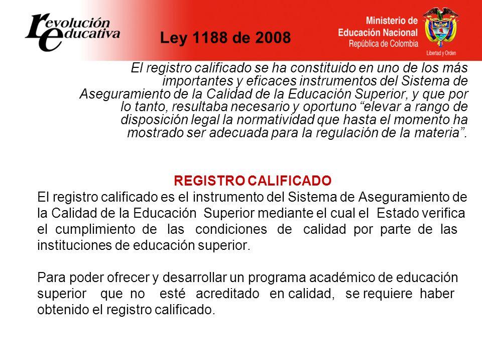 Ley 1188 de 2008