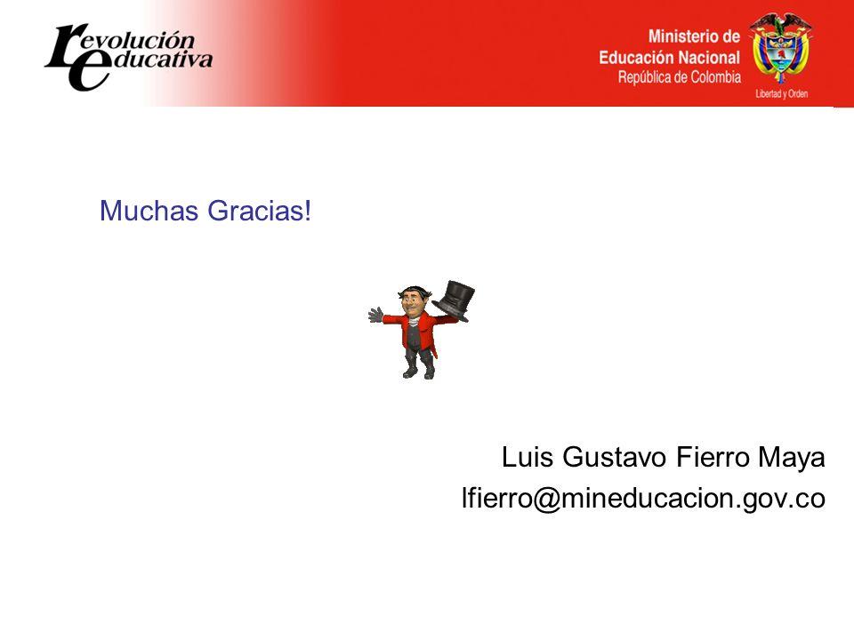 Luis Gustavo Fierro Maya lfierro@mineducacion.gov.co