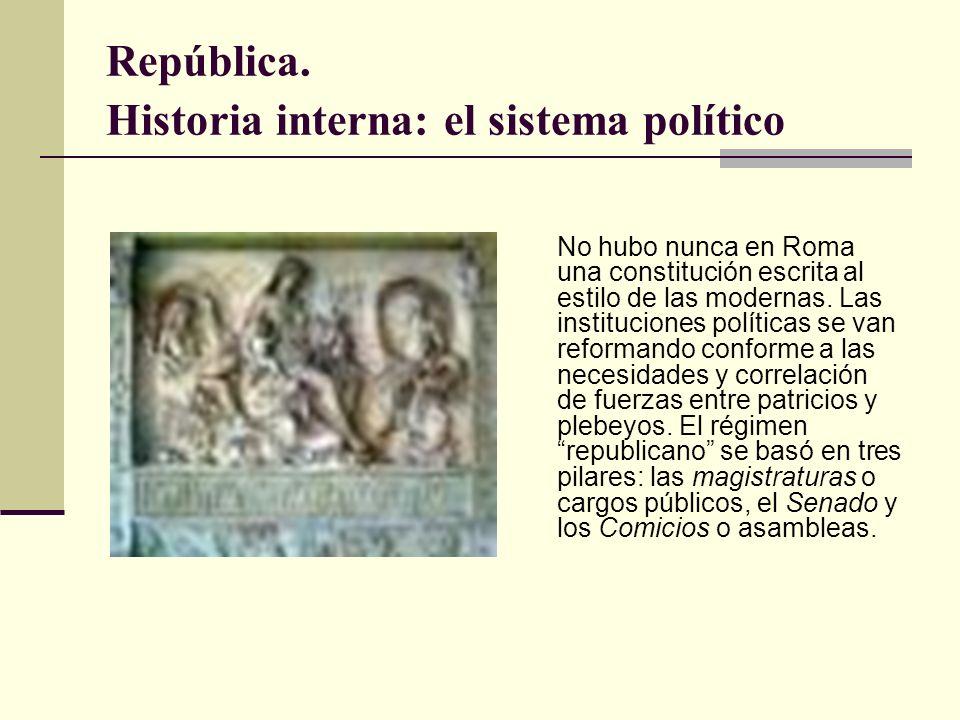 República. Historia interna: el sistema político