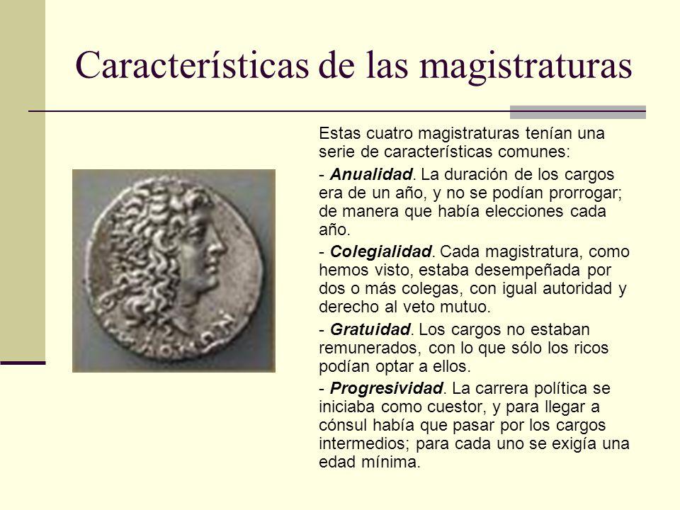 Características de las magistraturas