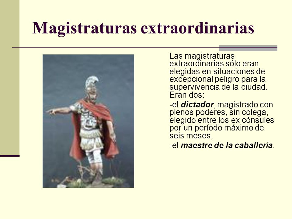 Magistraturas extraordinarias