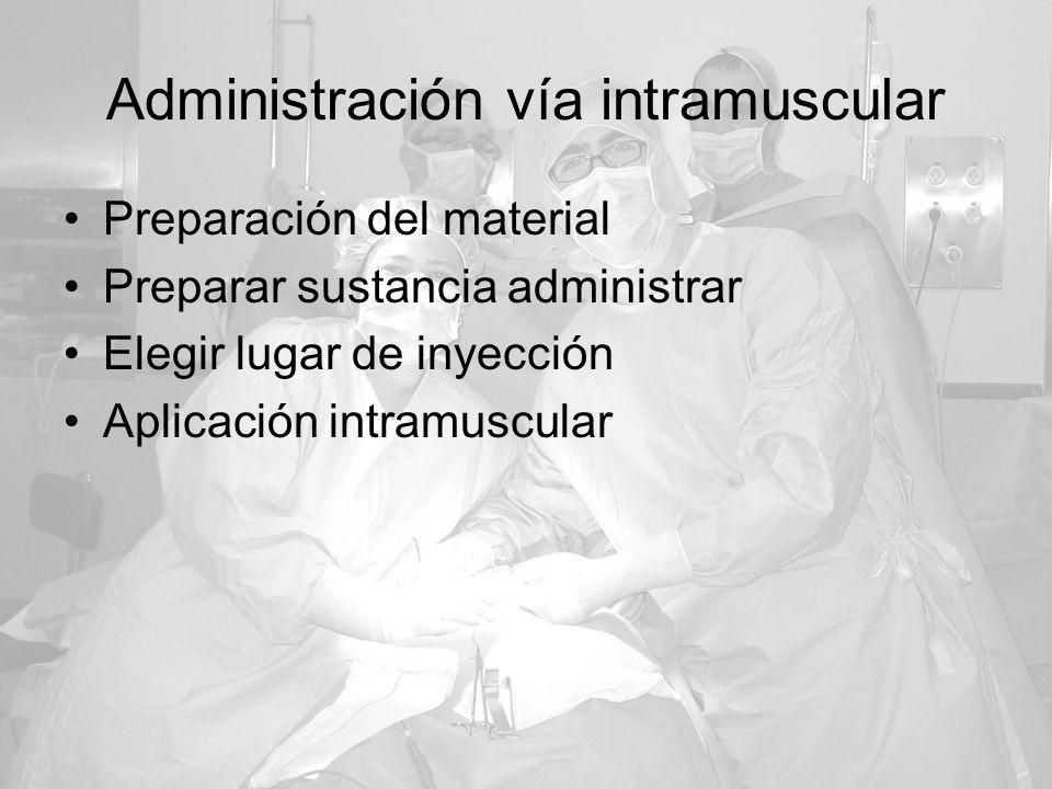 Administración vía intramuscular