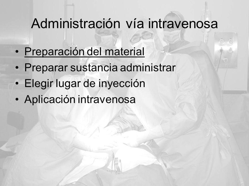 Administración vía intravenosa