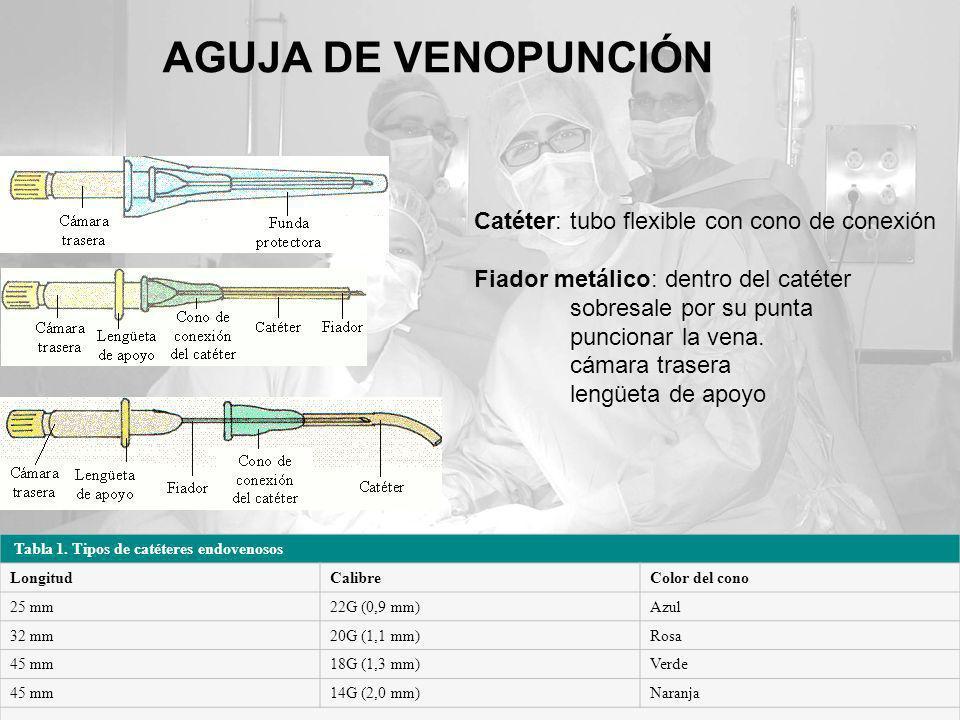 AGUJA DE VENOPUNCIÓN Catéter: tubo flexible con cono de conexión