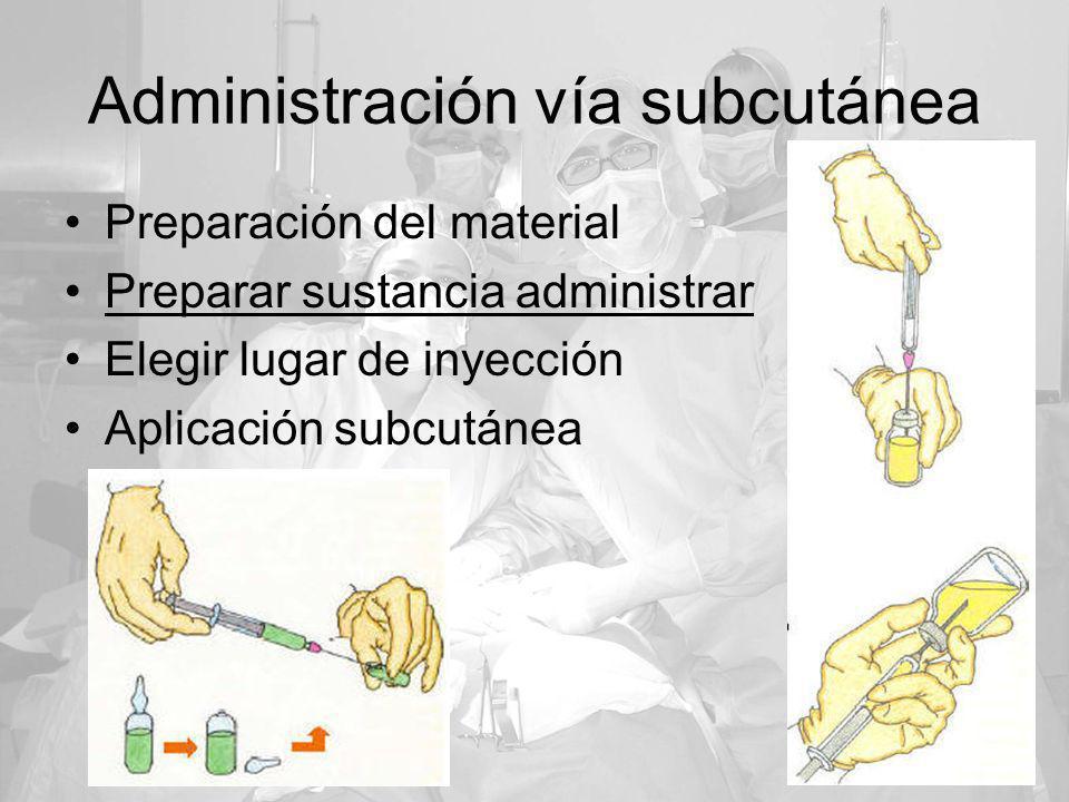Administración vía subcutánea
