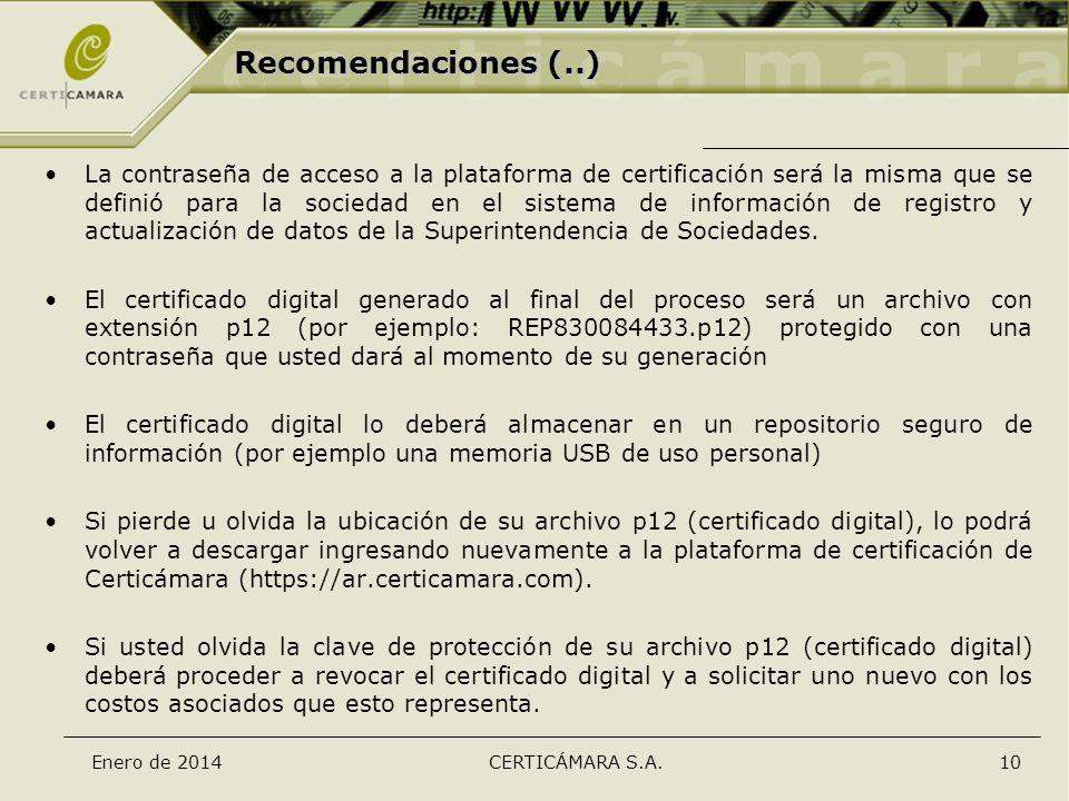 Recomendaciones (..)