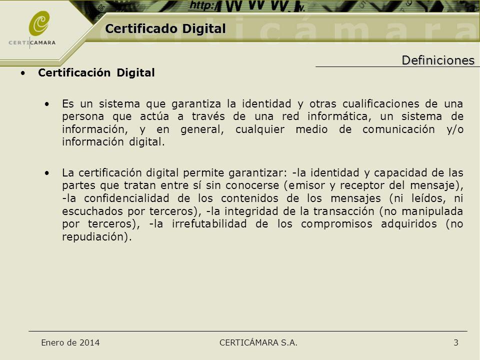 Certificado Digital Definiciones Certificación Digital