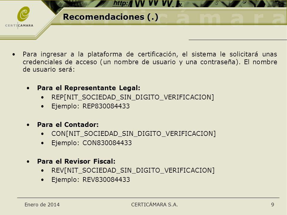 Recomendaciones (.)