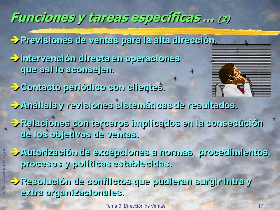 Funciones y tareas específicas ... (2)