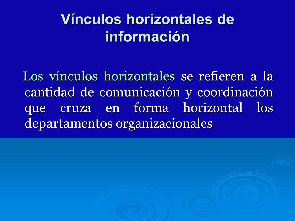 Vínculos horizontales de información