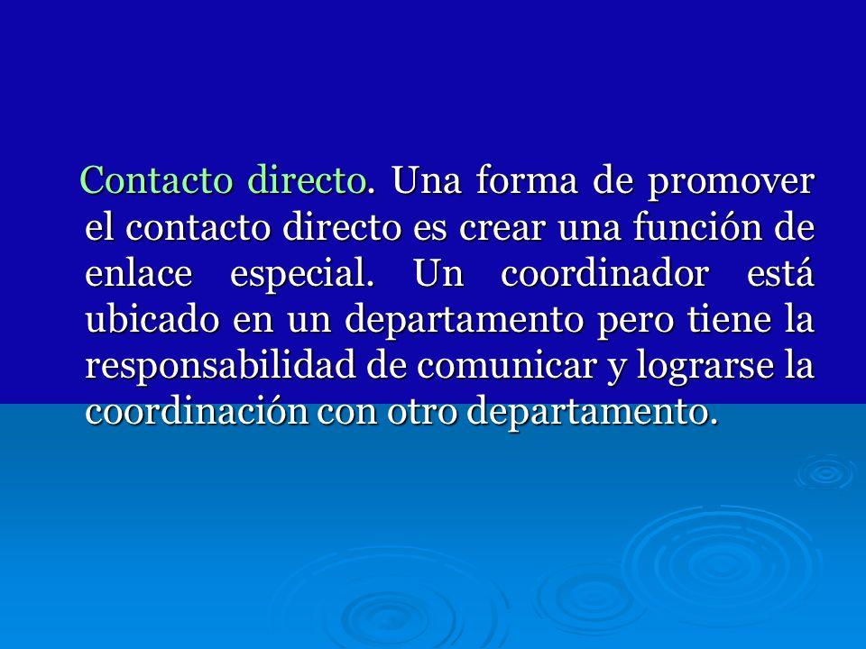 Contacto directo.