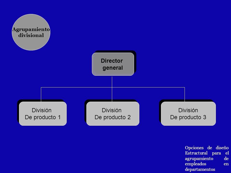 Director general División De producto 1 División De producto 2