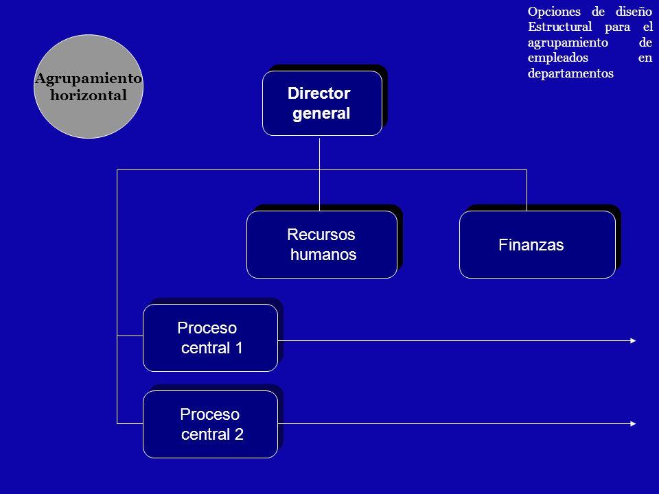 Director general Recursos Finanzas humanos Proceso central 1 Proceso