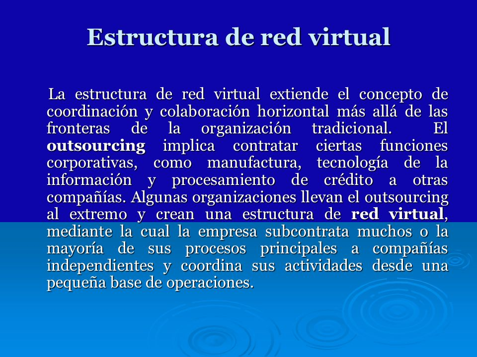 Estructura de red virtual