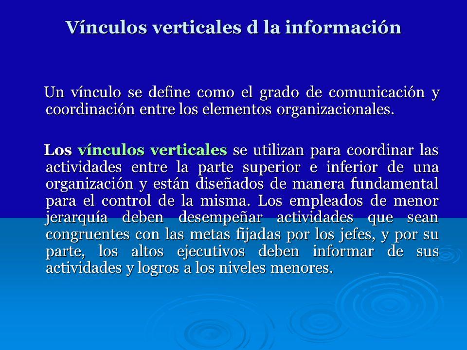 Vínculos verticales d la información
