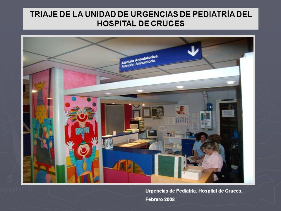 TRIAJE DE LA UNIDAD DE URGENCIAS DE PEDIATRÍA DEL HOSPITAL DE CRUCES