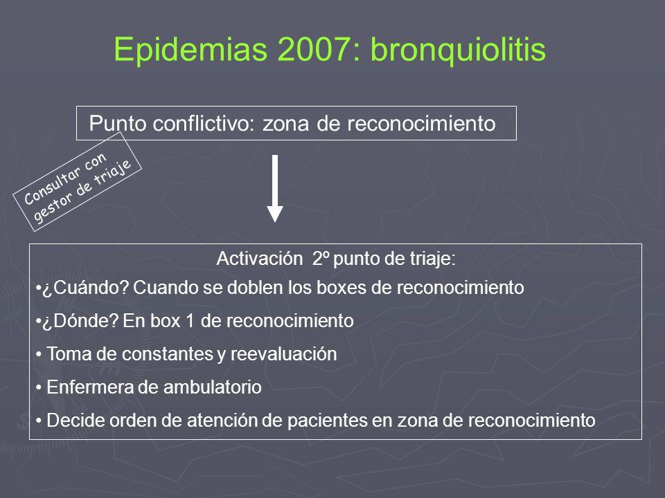Epidemias 2007: bronquiolitis