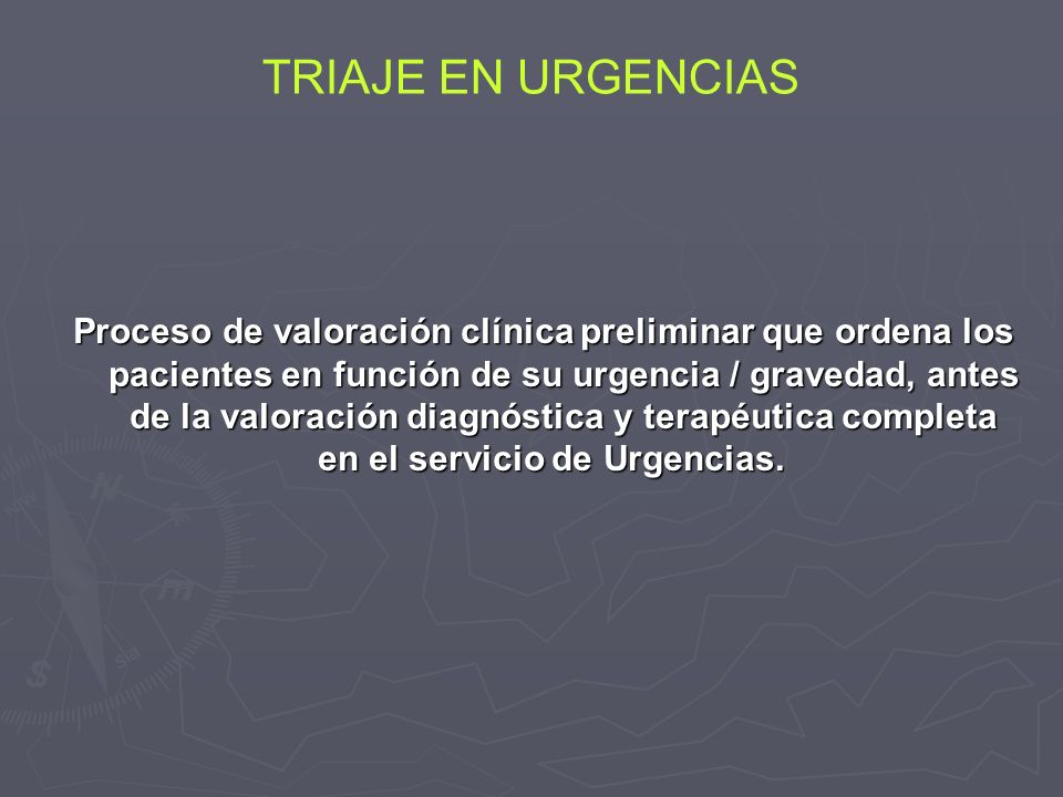 TRIAJE EN URGENCIAS