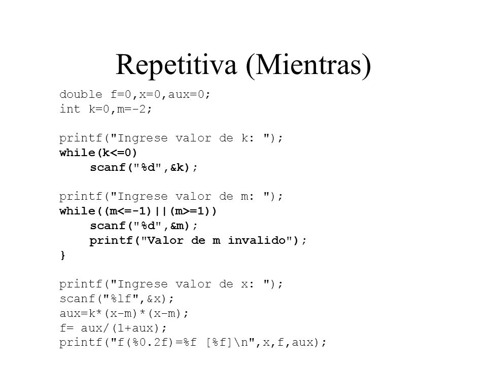 Repetitiva (Mientras)